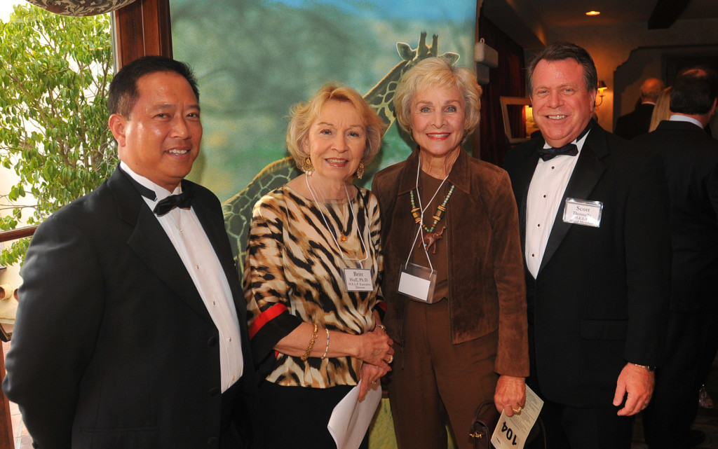 Dr. Wade Nishimoto, Britt Huff, Marion Ruth, and Scott Donnelly, member of the H.E.L.P. Board of Directors.