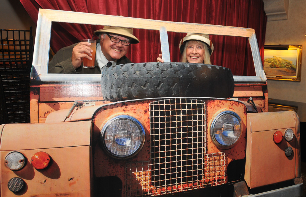 Chuck and Marylyn Klaus enjoy a moonlight safari jeep ride.