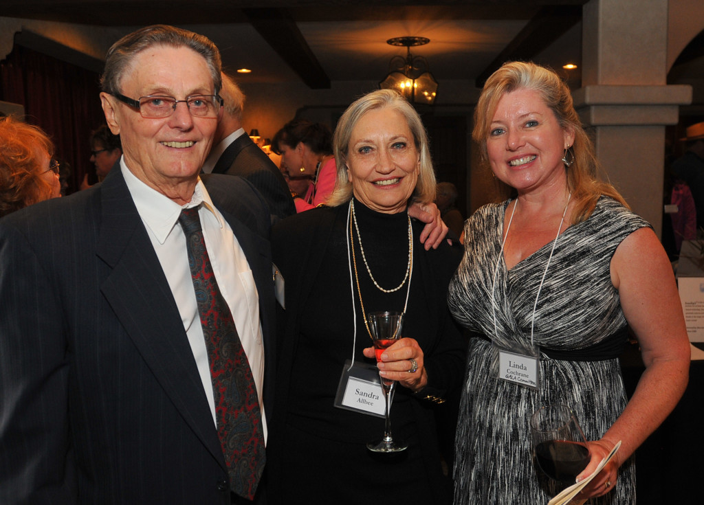 Jerry Wahlin & Sandra Allbee, with Linda Cochrane, Gala auction Co-Chair