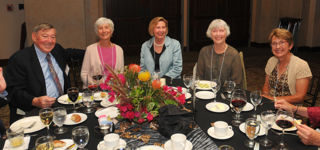 Fred Bayer, Judy Bayer, H.E.L.P. Board of Directors member; Judy Mitchell, Mayor of Rolling Hills Estates; Lois Olsen, and Gail Warner