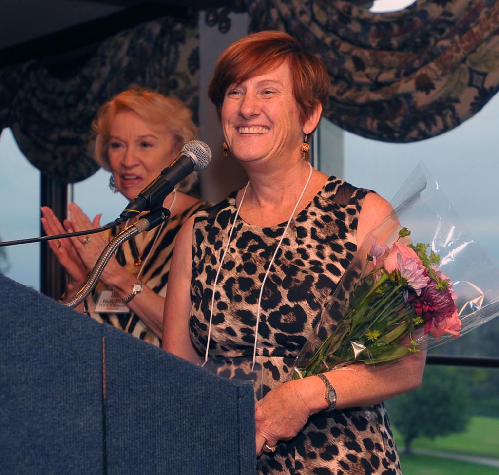Nancy Scott, Gala Chair, with Britt Huff