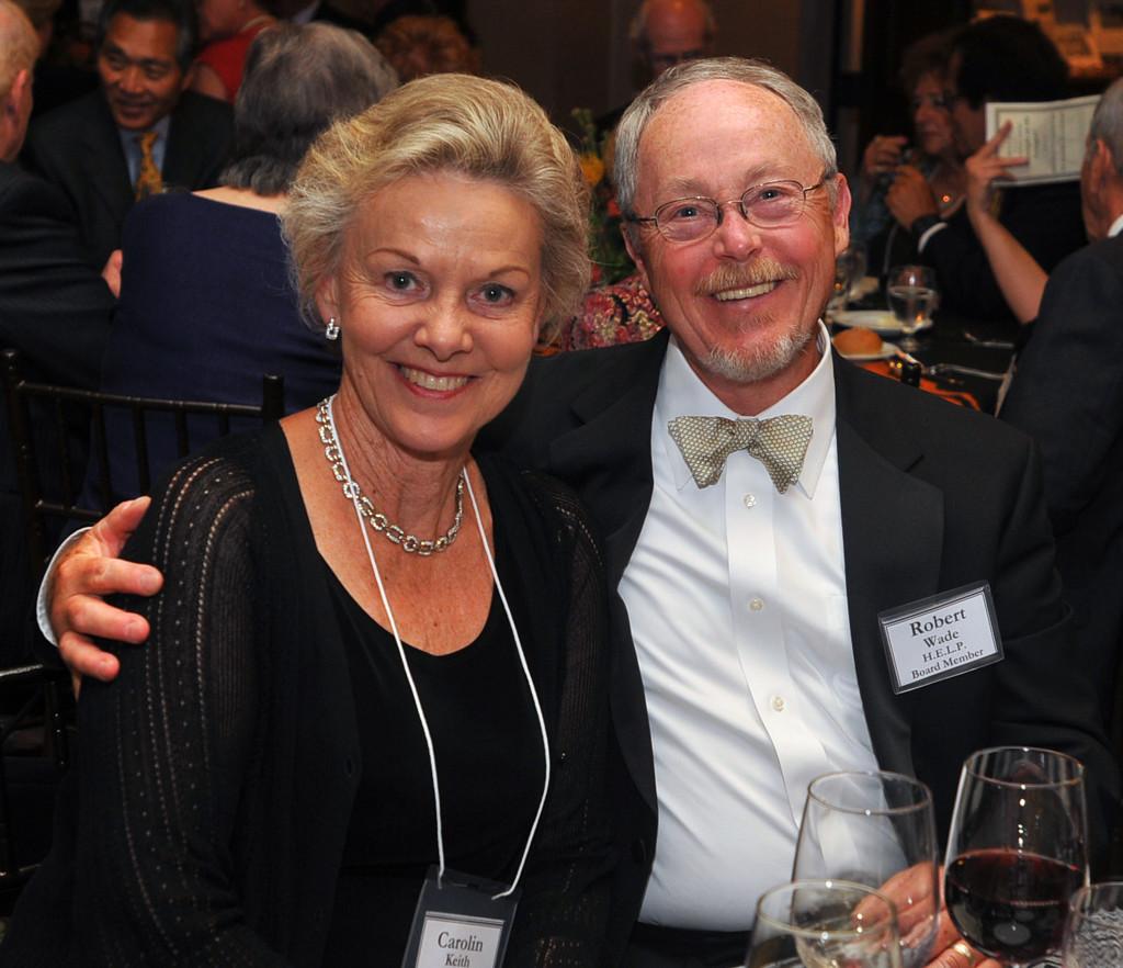 H.E.L.P. Board member Bob Wade, representing Platinum Sponsor Toyota Motor Sales, U.S.A., and Carolin Keith Wade, formerly of Exxon-Mobil Corporation