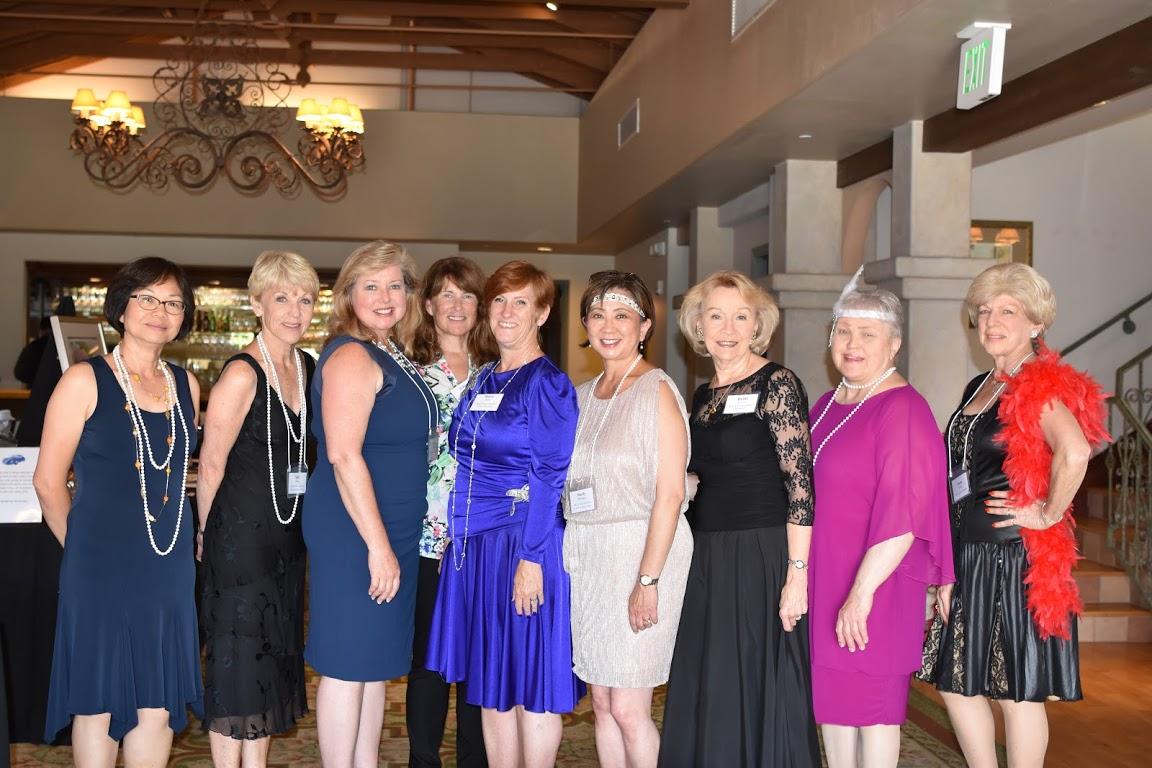 Some of the H.E.L.P. gala committee members, from left: Yim Hom, Sally Moton, Linda Cochrane, Hillary Watts, Nancy Scott (Gala Chair), Mardi Maehara, Britt Huff, Ardis Shubin, and Linda Smith.